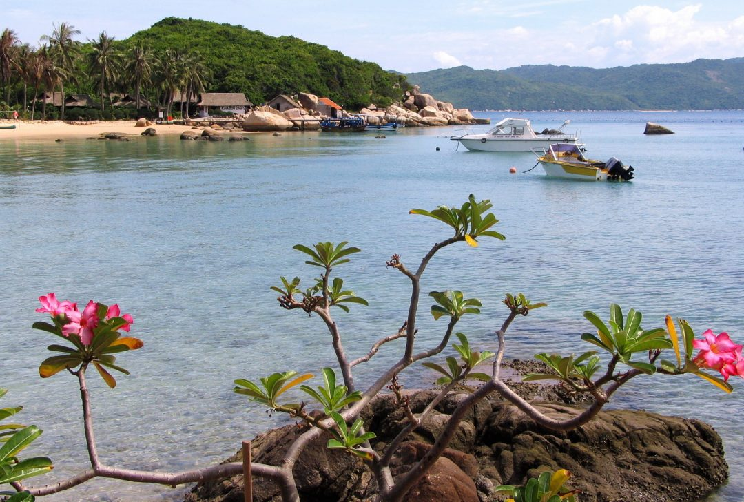 Vietnam, Whale island, view from the terrace