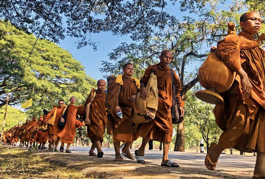 Thailand, monks at Sukhothai, Hidden Thailand tour