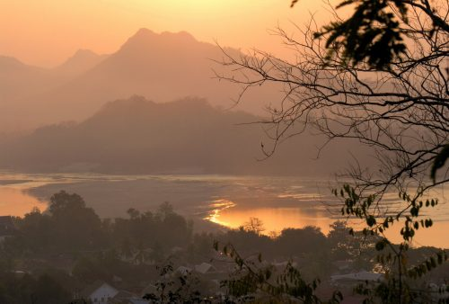 Laos, Sunset from Wat Chong Phet Luang Prabang