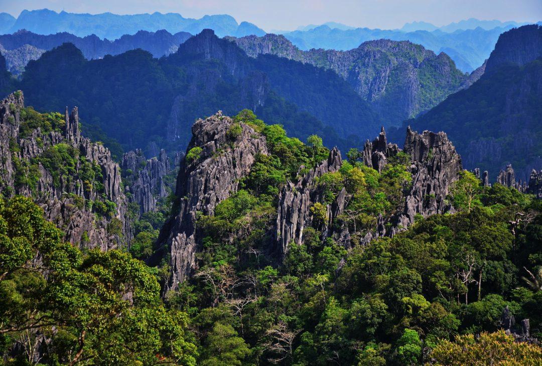 Laos, Hin Boun landscape