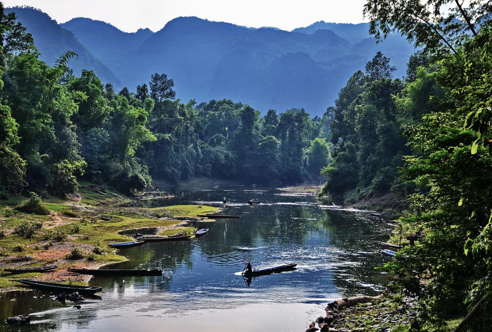 Laos, the Hin Boun River