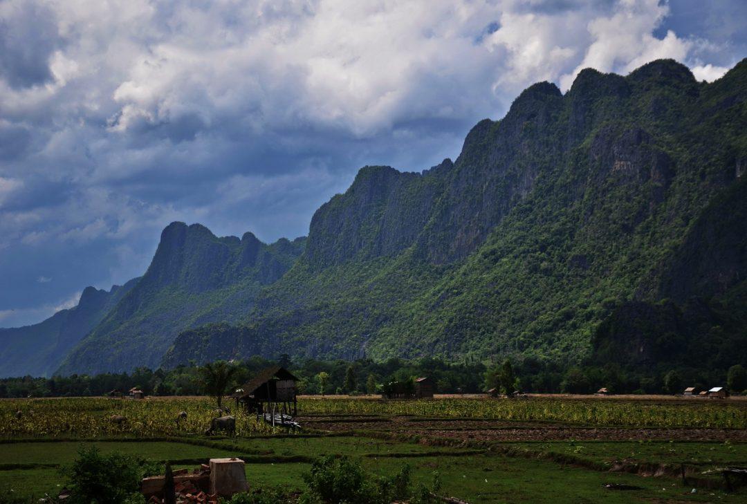 Laos, scenery near Hin Boun