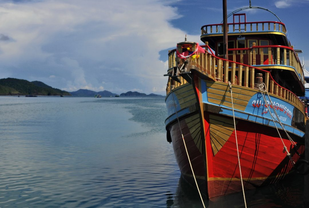 Thailand, Koh Chang, fishing village