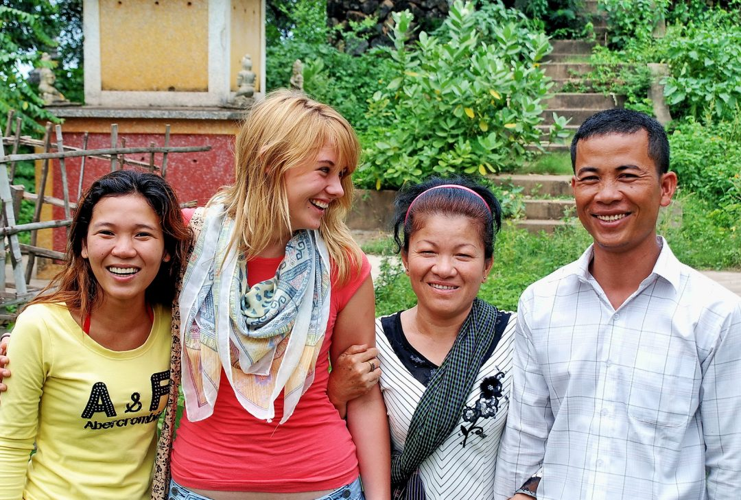 Cambodia, meeting the locals on Koh Dach