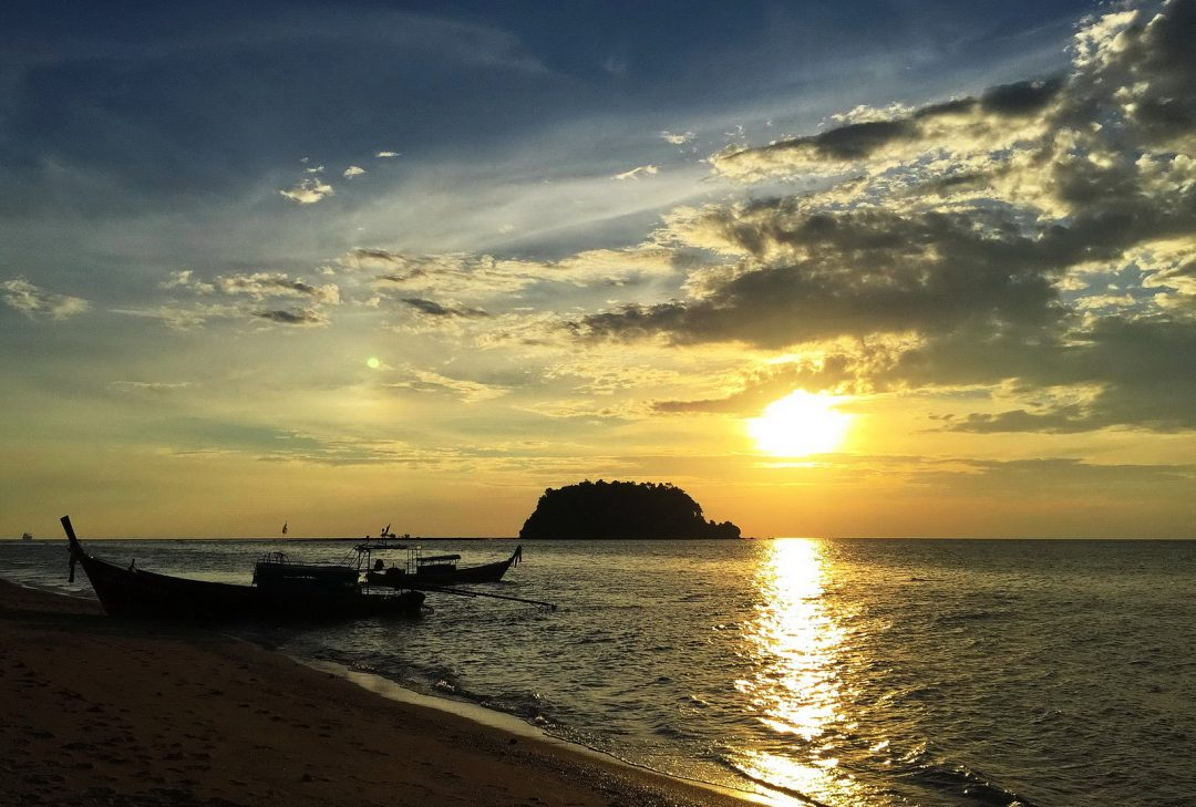 South Thailand Family Tour, Koh Libong, sunset