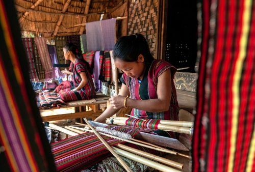 Laos and Cambodia tour, traditional weaving