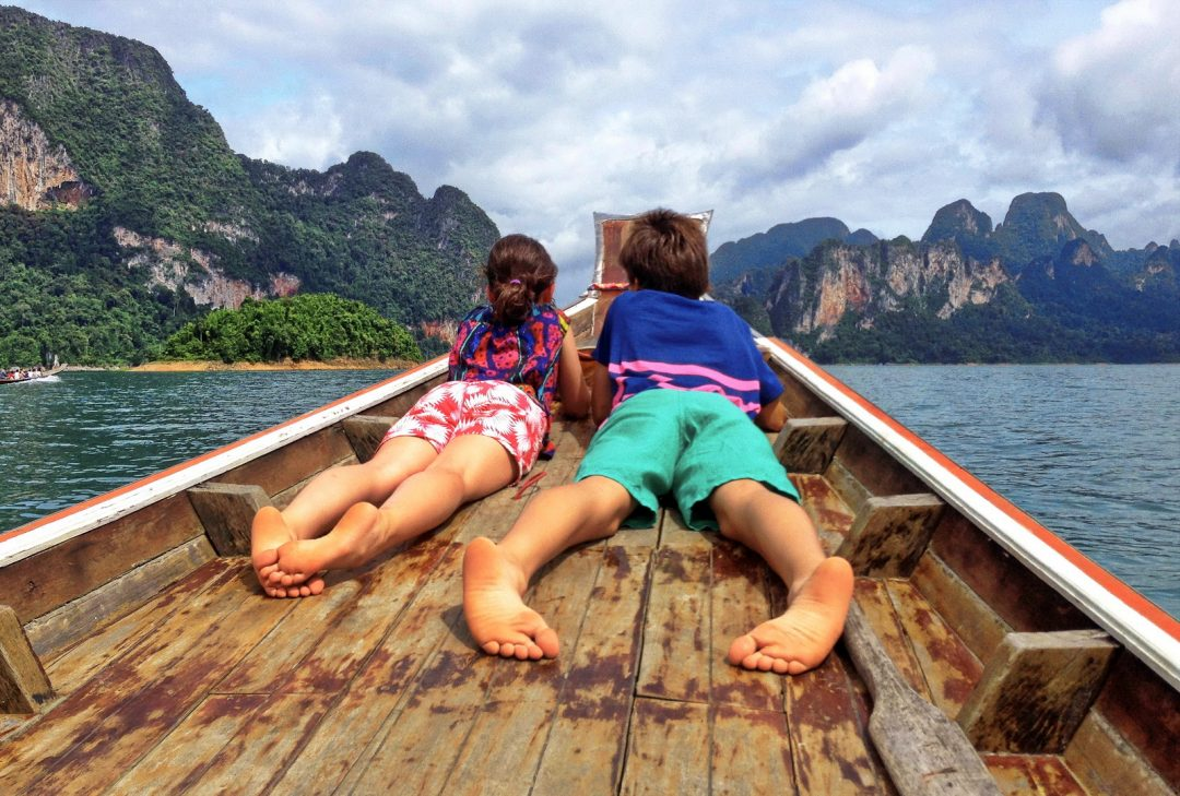 Thailand Family tour, boat trip in Khao Sok