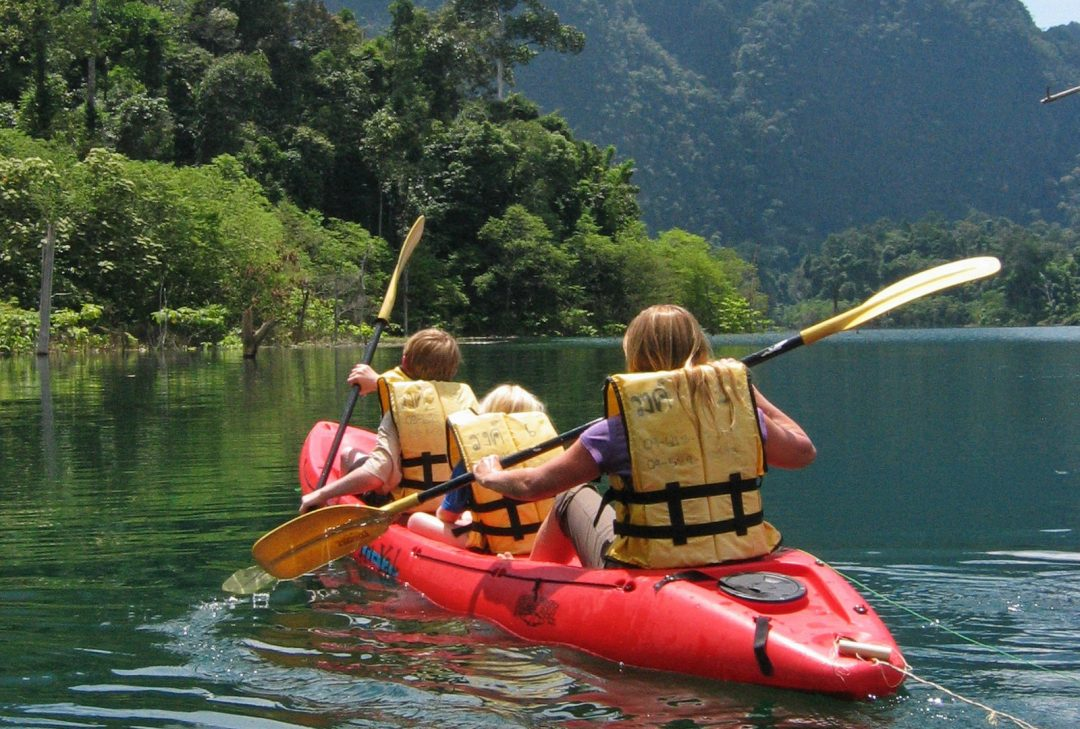 Thailand Family Tour, kayaking in Khao Sok National Park