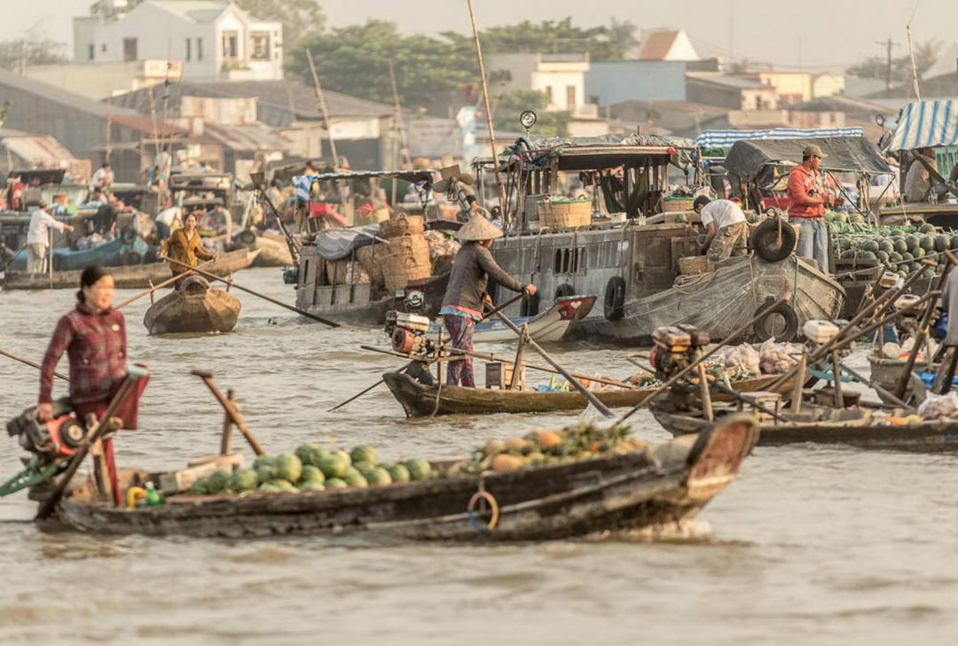 Vietnam, floating market, by Gary Latham