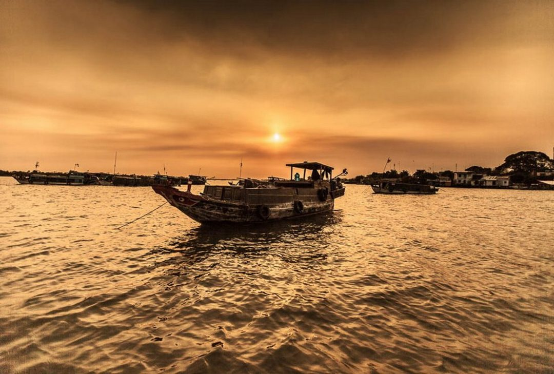 Vietnam photography tour, Mekong Delta boat by Gary Latham