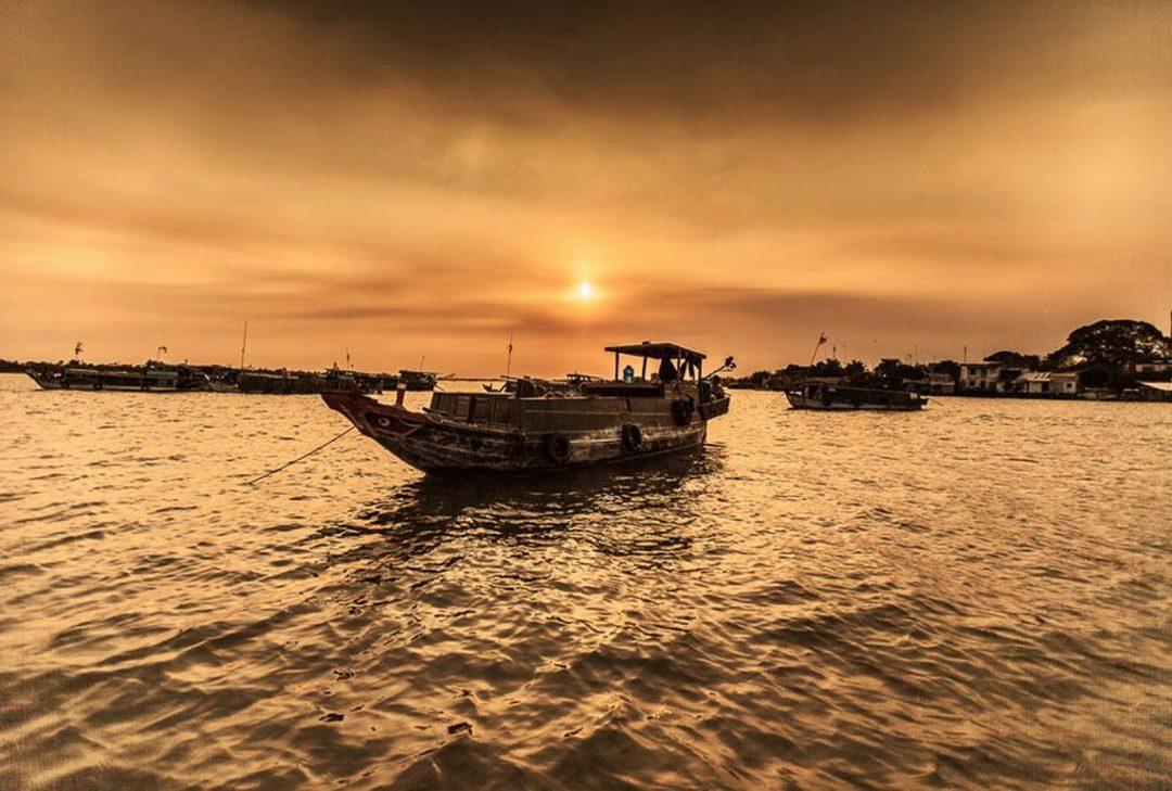 Vietnam, Mekong Delta boat by Gary Latham