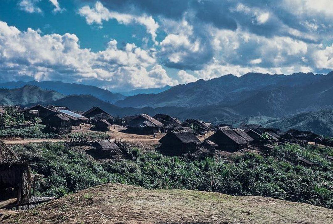 Laos, hill-tribe village (by Jeff Perigois)