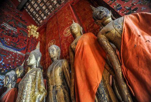 Laos, Luang Prabang Buddhas, (by Jeff Perigois)