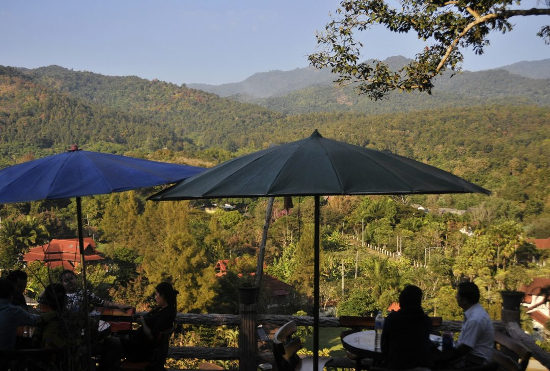 Thailand, coffee shop near Doi Suthep NP
