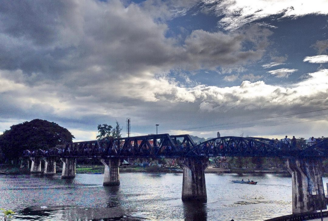 Thailand, Kanchanaburi, Bridge on the River Kwai