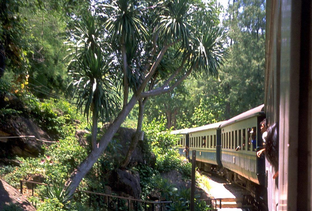 Thailand, Kanchanaburi train ride