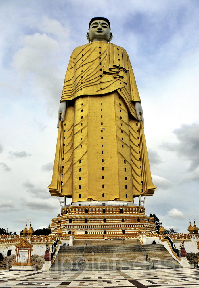 Burma, (Myanmar) Buddha image on the way to Monywa