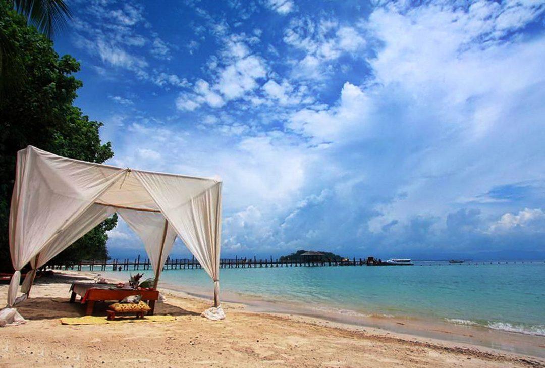 Malaysia, Borneo, Manukan beach