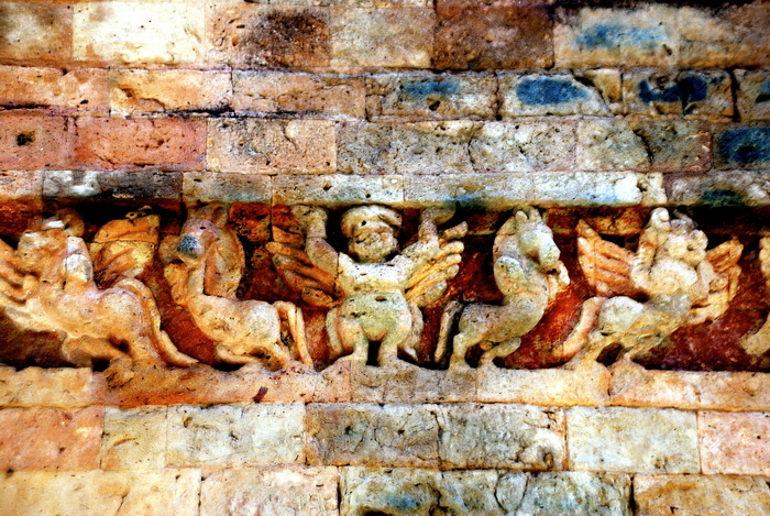 Brick carving at Sambor