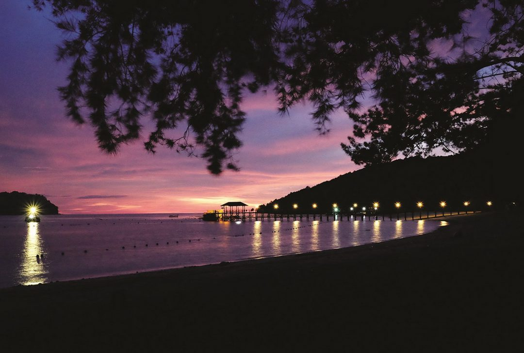 Malaysia, Borneo, Manukan sunset