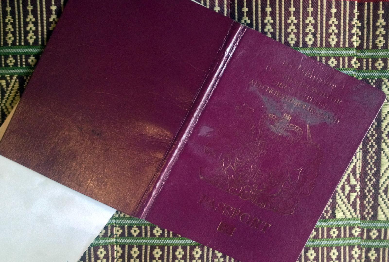 A well-used passport so make sure 2 blank pages remain