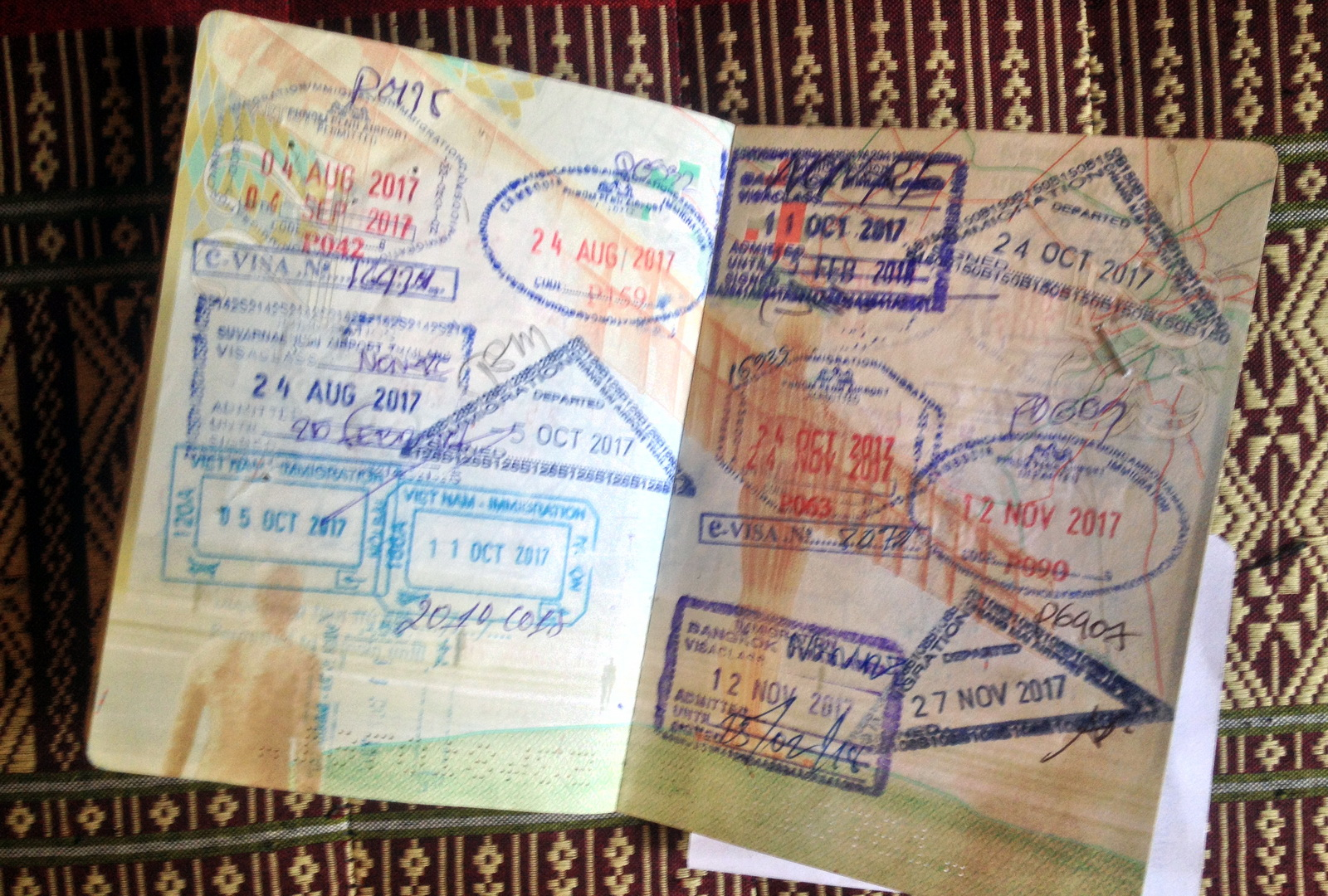 Standard sized passport stamps but they're not all like that