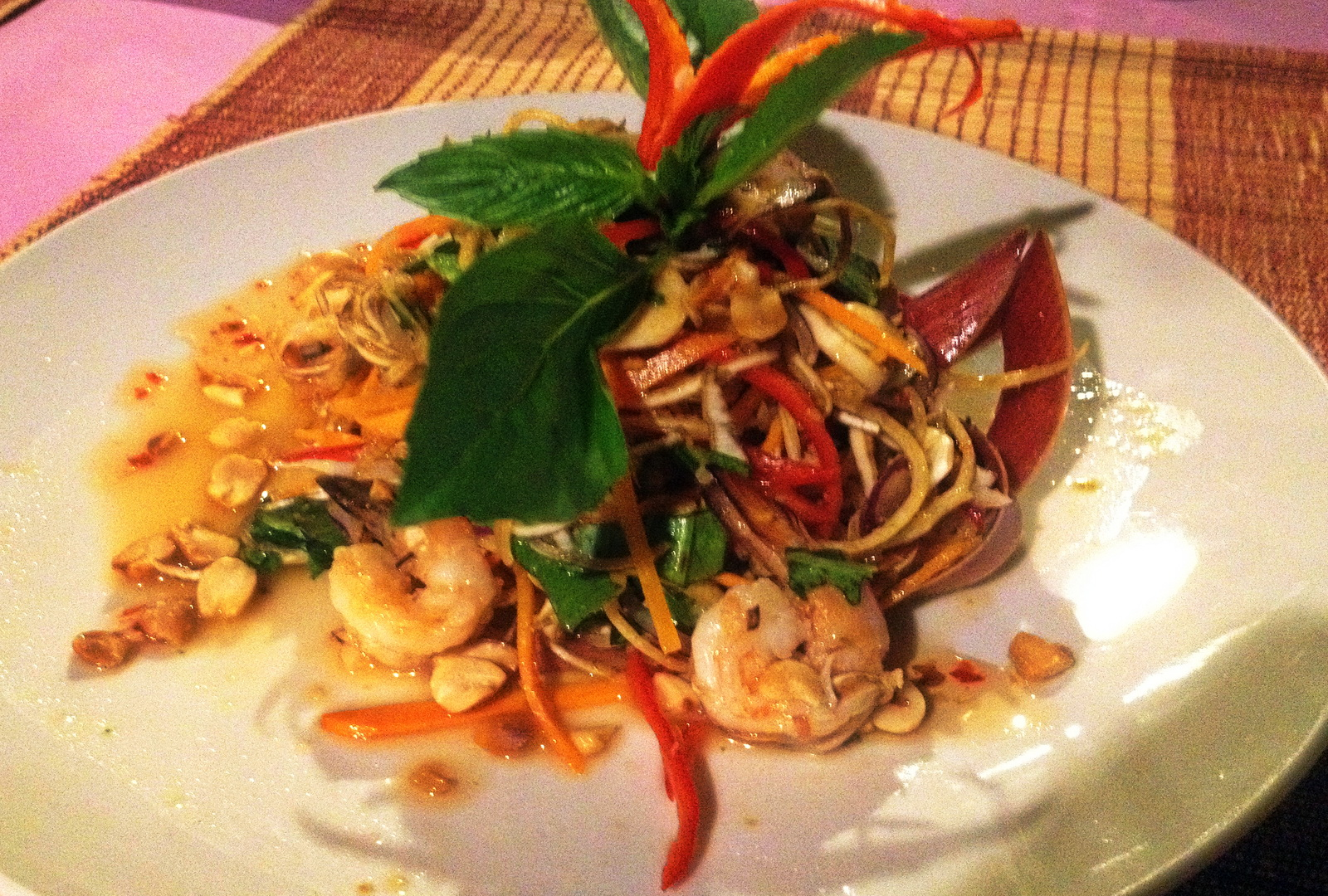 favourite Cambodian dishes banana flower salad
