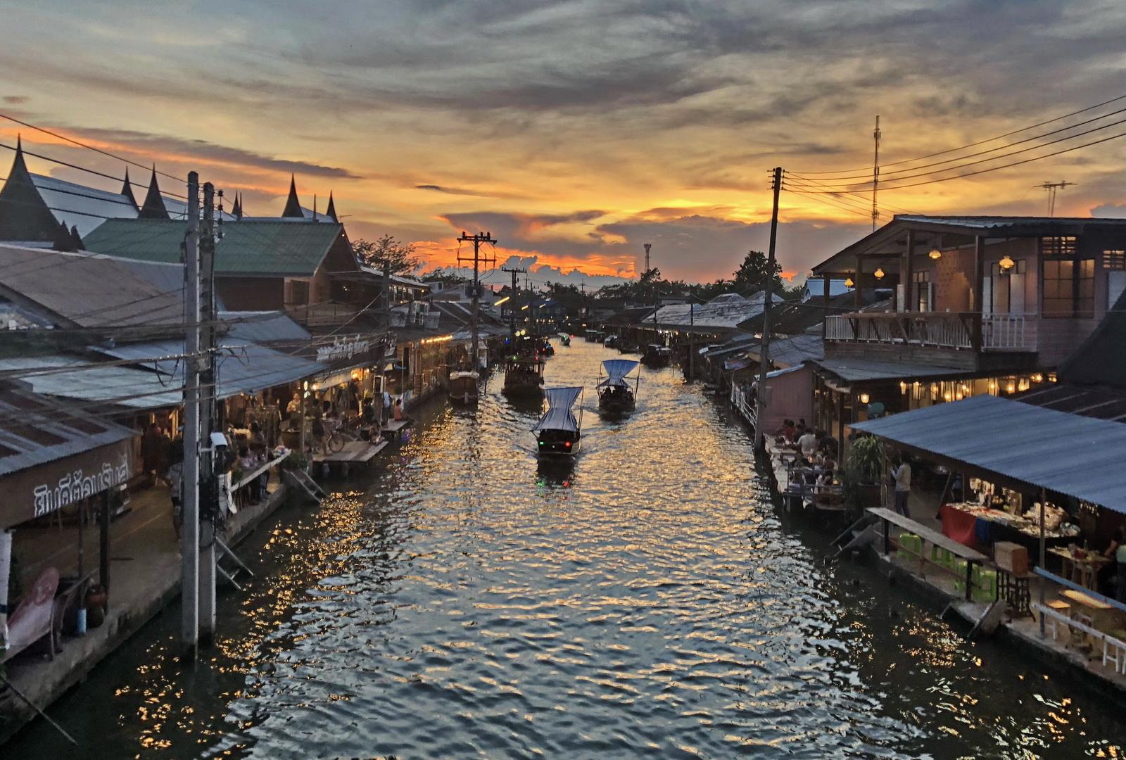 Thailand, Amphawa sunset