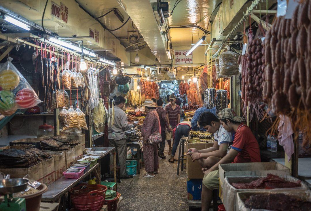 Cambodia Street Photography. Market scene