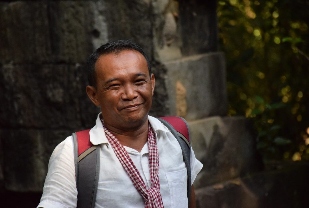 Cambodia, local guide Chet at Angkor