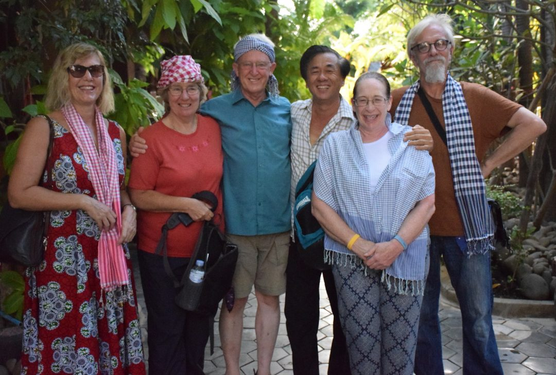Vietnam and Cambodia tour photos group shot at Battambang's Delux Villa.