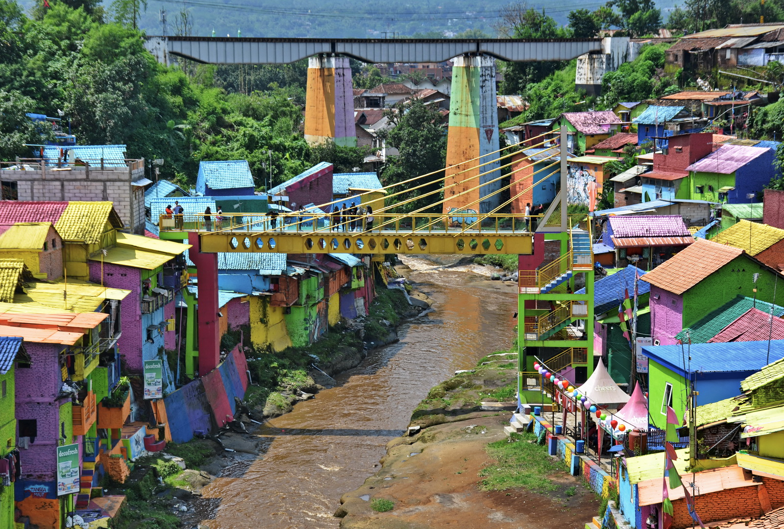 Malang's Rainbow Village, East Java, Indonesia