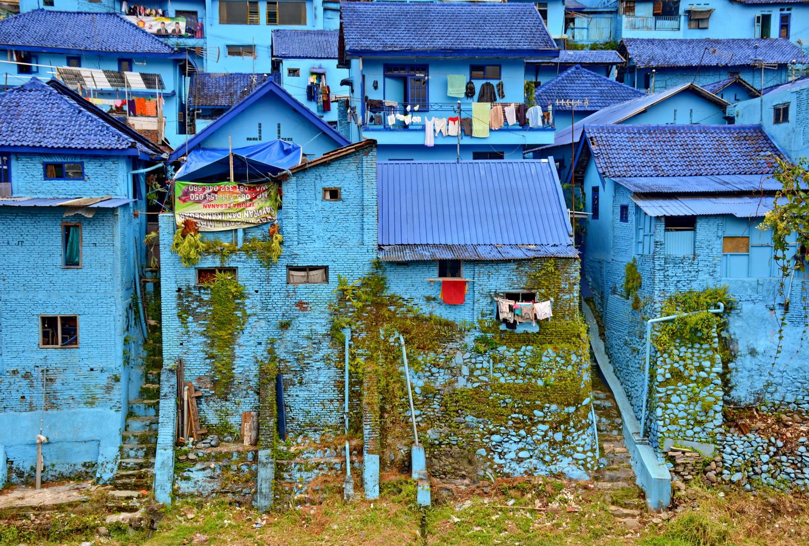 Indonesia, Malang's Kampung Biru Arema - 'come on you blues'