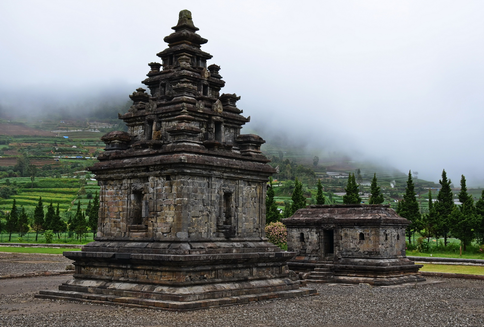 Indonesia. 7th or 8th-century temple