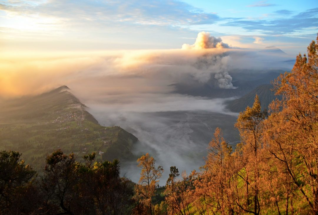 Indonesia, Java Overland. sunrise at Bromo Volcano