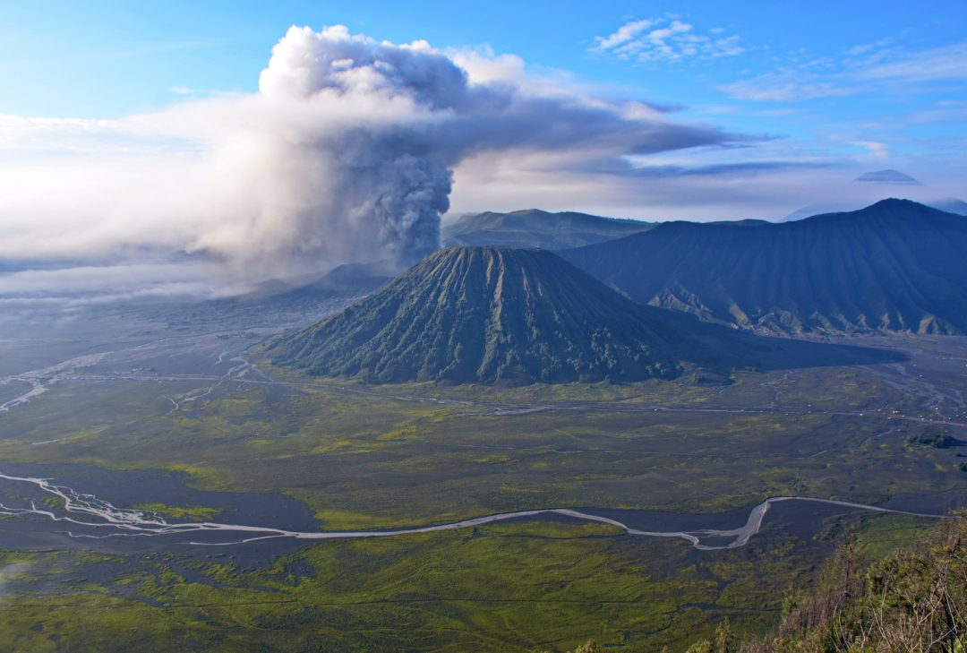 Indonesia. Java Overland. The Mount Bromo caldera