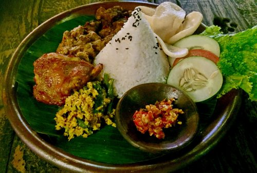 Indonesia. Java Overland. Local-style nasi campur