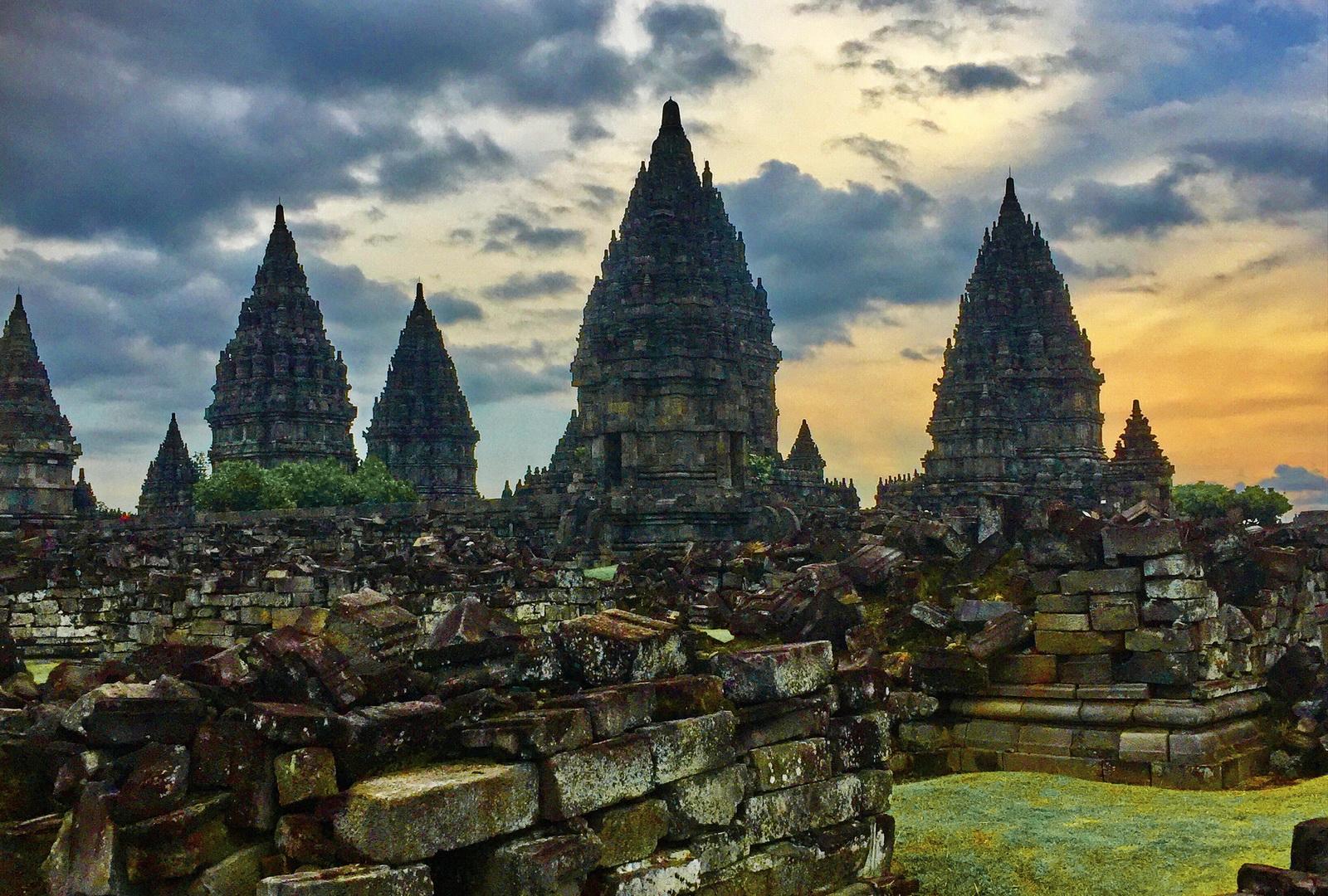 Indonesia. Java Overland. UNESCO Prambanan Temple