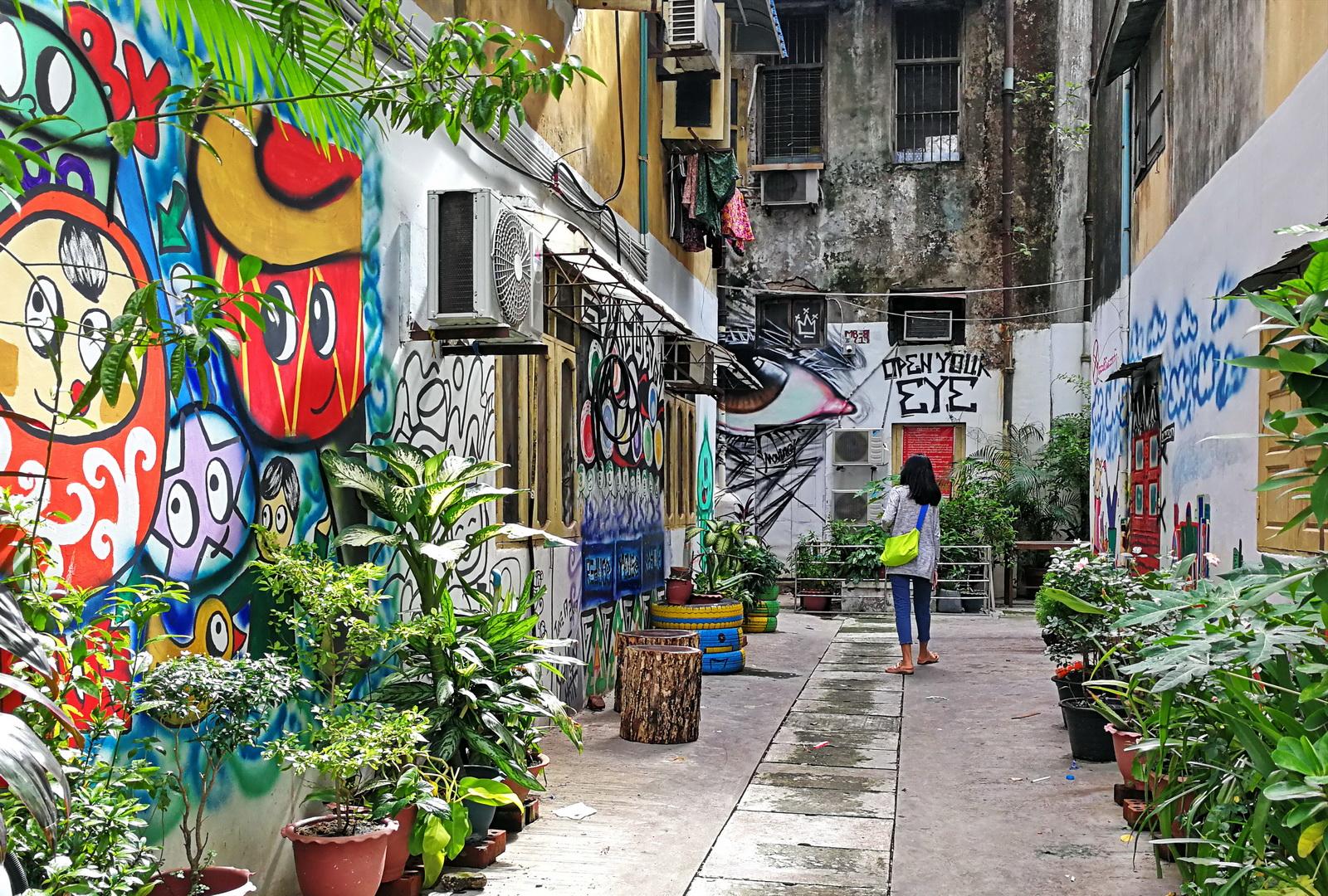 Burma, Myanmar, Yangon's Garden Alleys