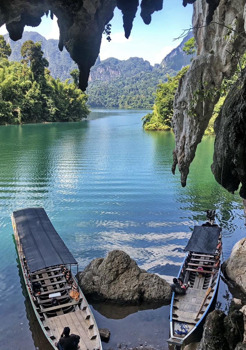 Thailand, limestone cave at Khao Sok