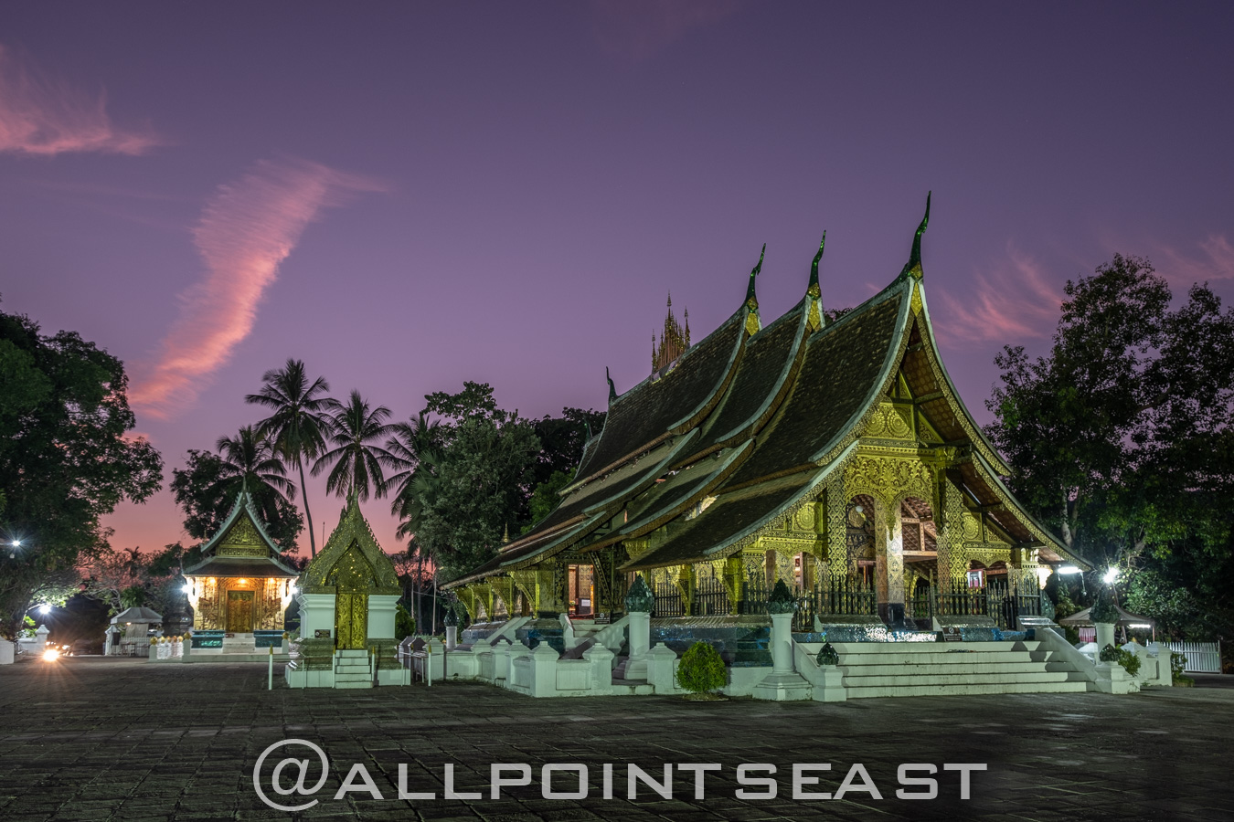 Laos photography tour. Luang Prabang at night by Jeff Pergiois