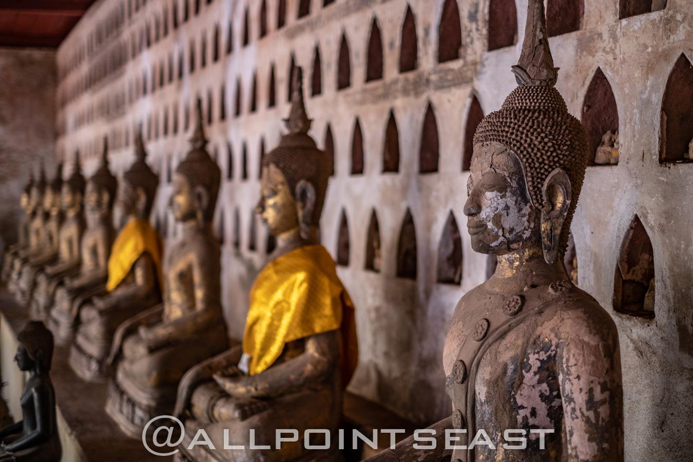 Laos photography tour. Wat Si Saket by Jeff Pergiois