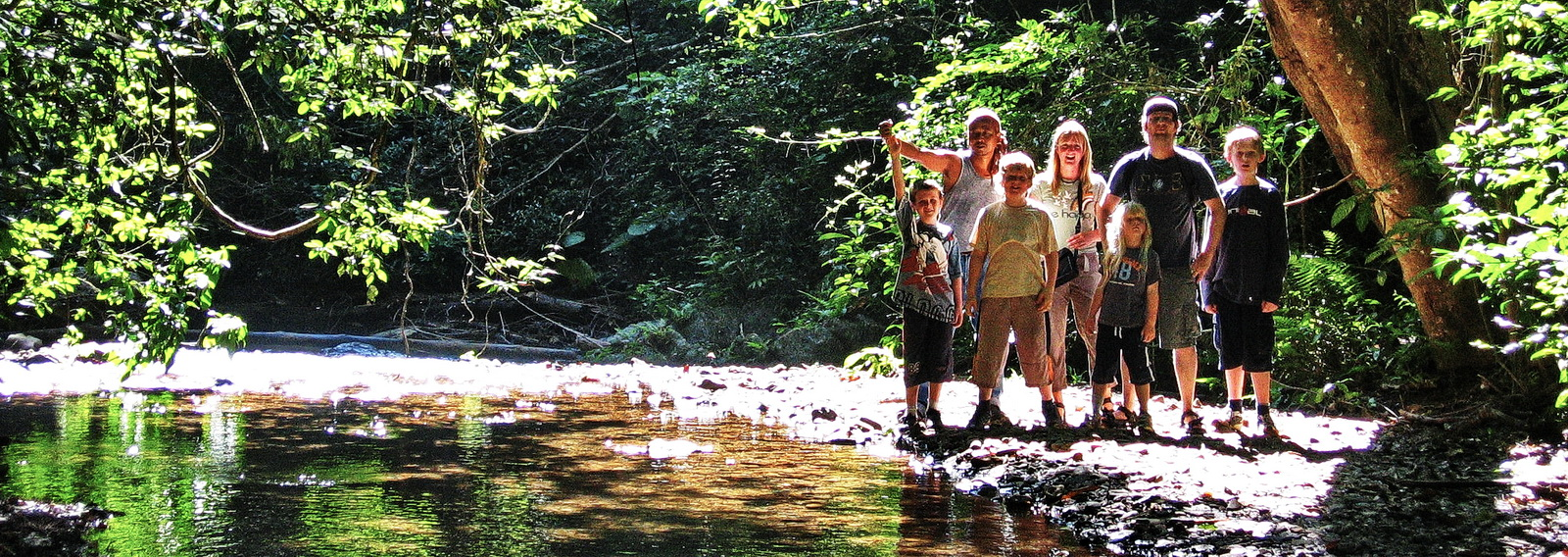 Family tours, family in jungle, Thailand